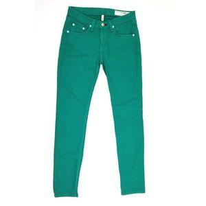 NWOT Rag & Bone Green Skinny Jeans 26 Waist